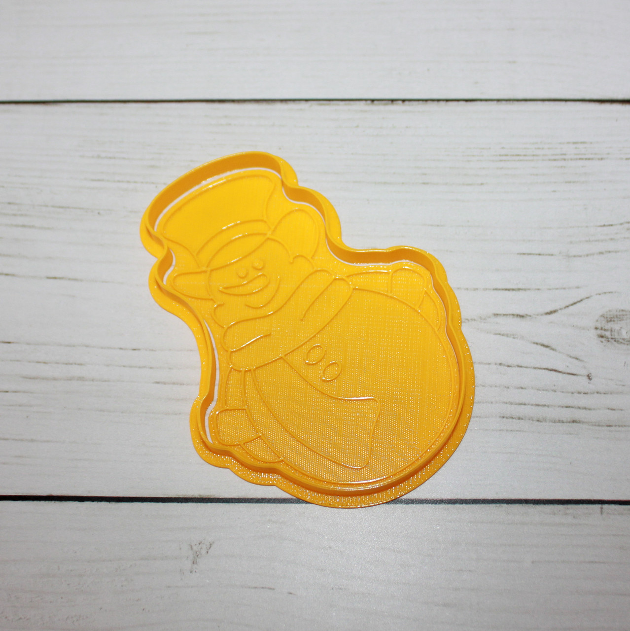 """Вырубка для печенья с штампом """"снеговик"""""""