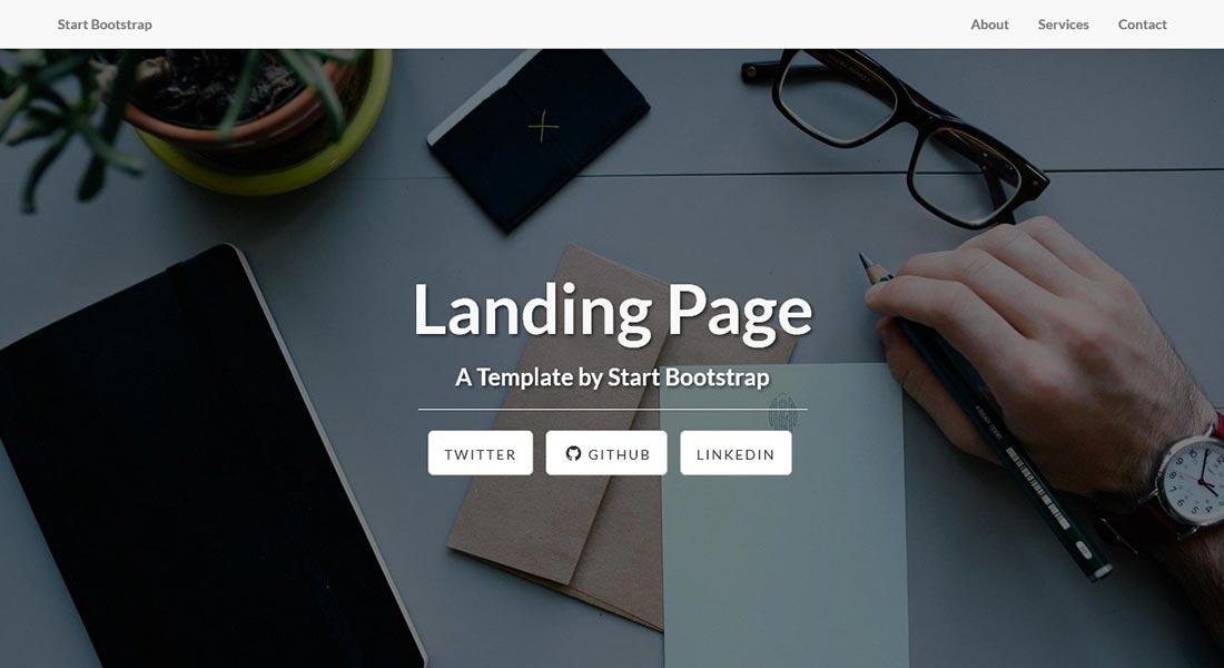 Разработка рекламной страницы