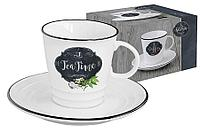Чашка с блюдцем Кухня в стиле Ретро (чай) в подарочной упаковке