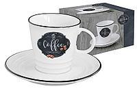 Чашка с блюдцем Кухня в стиле Ретро (кофе) в подарочной упаковке