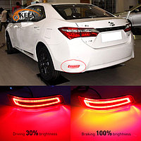 Задние LED вставки в бампер на Corolla 2013-18 дизайн 2