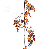 Декор Веточка с оранжевыми ягодами 120см KA622390