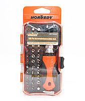Отвертка реверсионная с комплектом насадок и трещеткой 38 предметов, SDY-94054