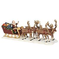 Декор Санта с подарками на санях в оленьей упряжке 21х6,5х8см ED603023