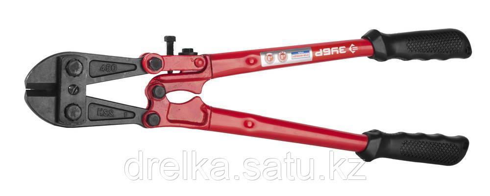 Болторез, Cr-Mo, 62 HRC, кованый коннектор, 450 мм - макс d= 16 мм / HRC 40 до d= 6 мм, ЗУБР Профессионал