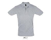Рубашка поло мужская | Perfect Men | Sols | Grey melange