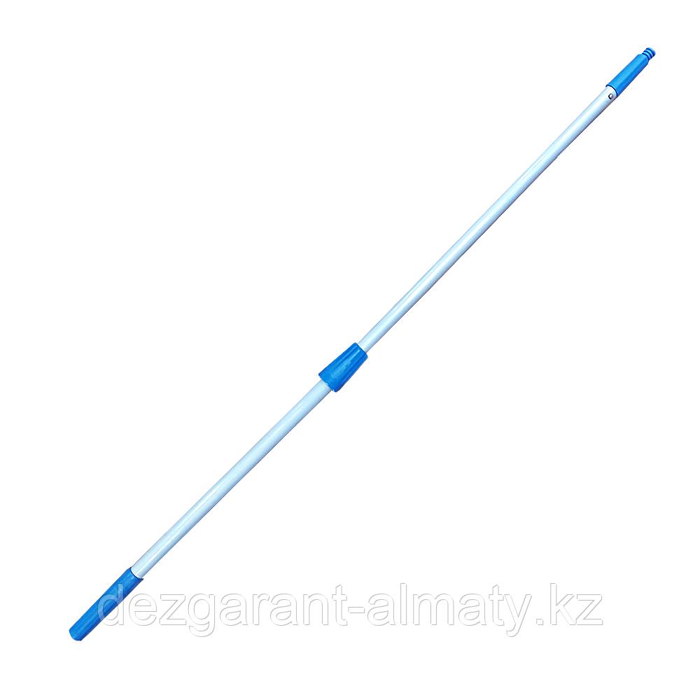 Двухпозиционная телескопическая алюминиевая ручка 3 м