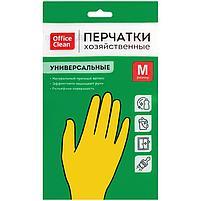 Перчатки натуральный латекс, размер М, OfficeClean, фото 2