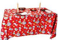 Скатерть новогодняя с 6 салфетками GaoYuan (Красный)