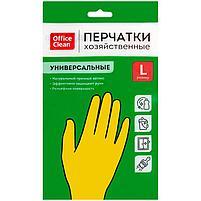 Перчатки натуральный латекс, размер L, OfficeClean, фото 2