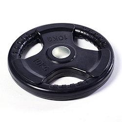 Олимпийский диск евро-классик с тройным хватом, блины для штанги D=50мм.