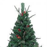 """Новогодняя ёлка """"Ель Эмеральд"""", украшенная сосновыми шишками и ягодами с замороженными кончиками, 120 см, фото 3"""