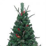 """Новогодняя ёлка """"Ель Эмеральд"""", украшенная сосновыми шишками и ягодами с замороженными кончиками, 180 см, фото 3"""