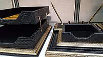 Набор настольный 7 предметов, темно-коричневый, кожа, отделка золотом, Grand, фото 7