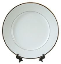 Тарелка белая сублимационная с золотым ободком