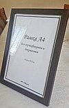 Рамка А4 прямая, фоторамки А4 коричневые, деревянные и пластиковые рамки А4, фото 2