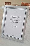 Рамка А4 прямая Алюминиевая, фоторамка А4 стальная, фото 2