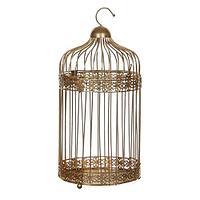 Декоративная птичья клетка золотая h30xd16см ED1013790
