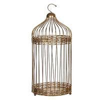 Декоративная птичья клетка золотая h40xd18см ED1013791