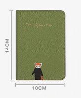 Стильная обложка на паспорт (Зеленый)