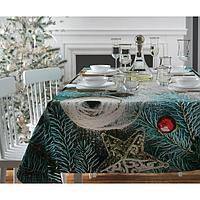 Скатерть с пропиткой «Бирюзовые ветви», 120х140 см, оксфорд, 240 г/м2, 100% полиэстер