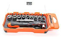 Отвертка реверсионная с комплектом насадок и трещеткой, Horusdy SDY-94053 (23 шт.)