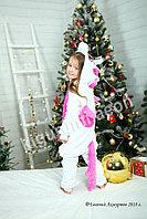 Кигуруми Бело-розовый единорог Пегас детский