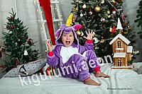 Кигуруми Единорог фиолетовый детский