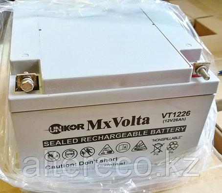 Аккумулятор Unikor MxVolta VT 1226 (12В, 26Ач), фото 2