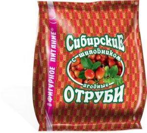 Отруби Сибирские пшеничные «С ШИПОВНИКОМ» 200г