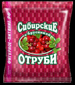 Отруби пшеничные  брусника 200 гр Сибирские