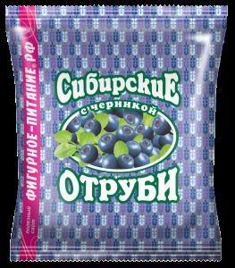 Отруби пшеничные  черника 200 гр Сибирские