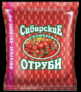 Отруби пшеничные  клюква  200 гр Сибирские