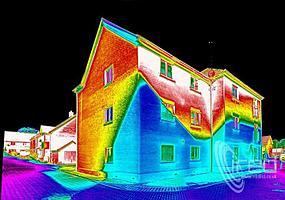 Тепловизионное обследование зданий и сооружений, частных домов.