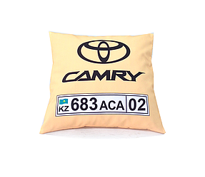 Автоподушка с номером и логотипом