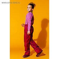Брюки для девочки, рост 158 см, цвет бордовый БД-7/25