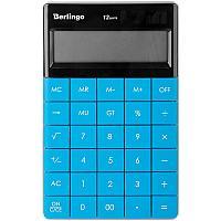 """Калькулятор настольный Berlingo """"Power TX"""", 12 разр., двойное питание, 165*105*13мм, синий"""