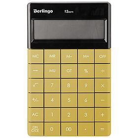 """Калькулятор настольный Berlingo """"PowerTX"""", 12 разр., двойное питание, 165*105*13мм, золотой"""