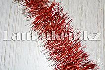 Мишура красная с белыми кончиками
