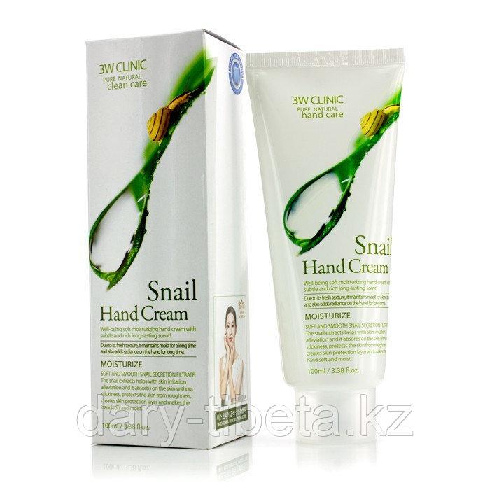 3W CLINIC Snail Hand Cream-Увлажняющий крем для рук с муцином улитки и алоэ