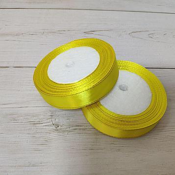 Лента атласная с люриксом 20мм желтый