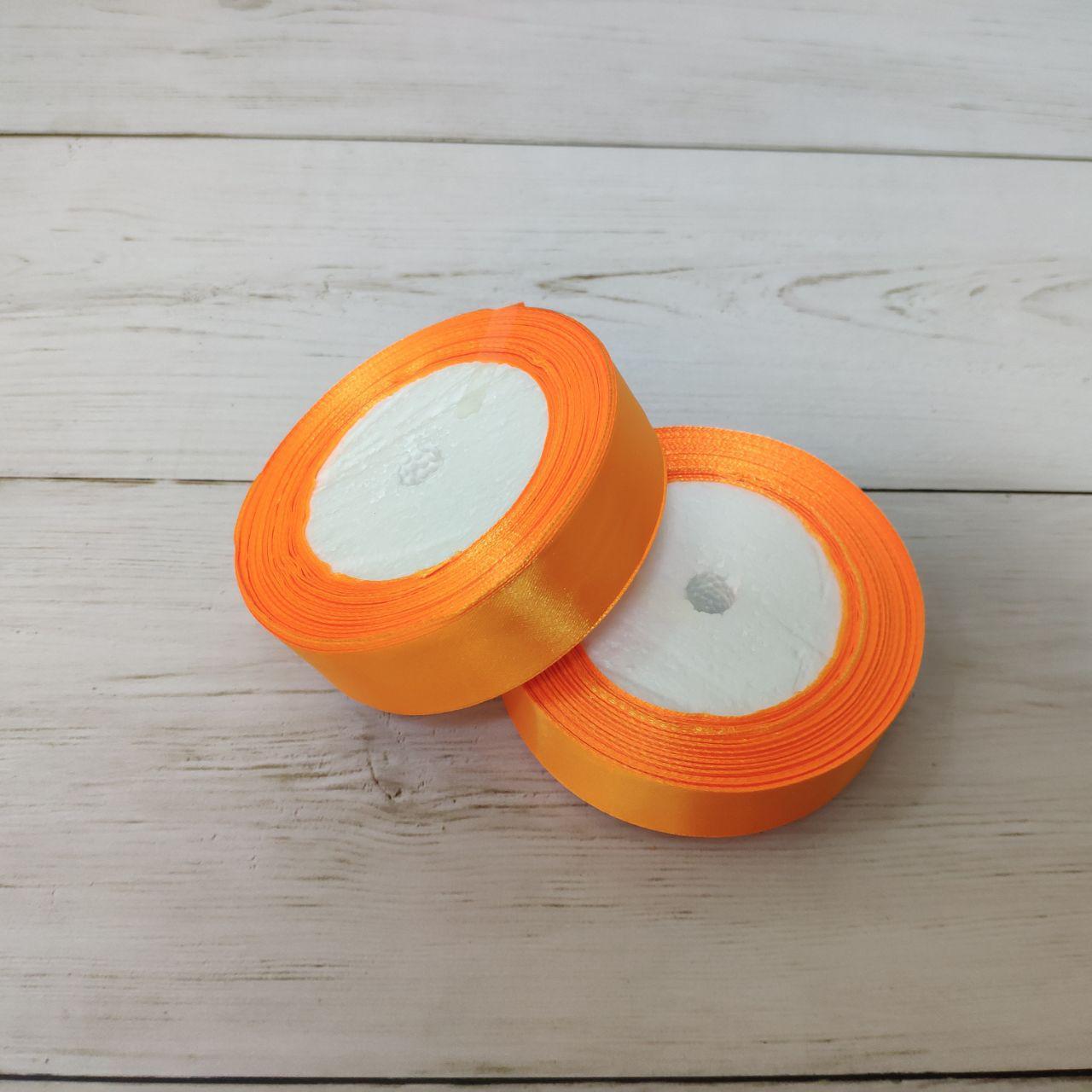 Лента атласная 25мм оранжевый