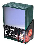 Протекторы Ultra Pro Жесткие прозрачные премиум протекторы toploader 25 штук, фото 1
