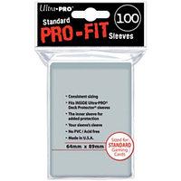 Ultra Pro - Внутренние прозрачные протекторы (perfect fit) 100 шт 64x89