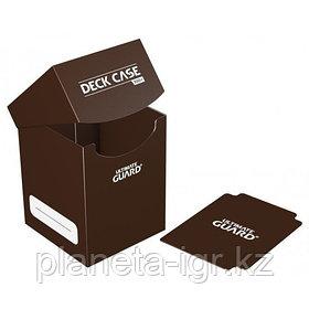 Коробочка для карт Deck case на 100шт, Ultimate Guard, цвет коричневый