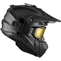 Шлем снегоходный бэккантри CKX TITAN CARBON, с очками CKX 210° TACTICAL, карбоновый
