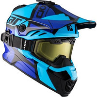 Шлем снегоходный бэккантри CKX TITAN HOPOVER AIR FLOW, с очками CKX 210° BACKCOUNTRY TACTICAL, индиг