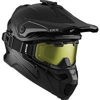 Шлем снегоходный бэккантри CKX TITAN SOLID AIR FLOW, с очками CKX 210° BACKCOUNTRY TACTICAL, черный