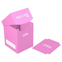 Коробочка для карт Deck case на 100шт, Ultimate Guard, цвет розовый