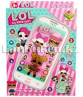 """Интерактивный телефон """"LOL"""" с звуковыми и световыми эффектами (розовый)"""